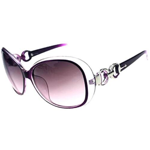 Women Oversized Designer Purple Sunglasses