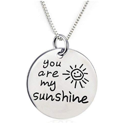 You are My Sunshine Pendant Necklace