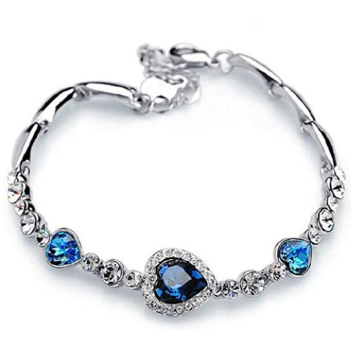 Zirconia Love Heart Bracelet